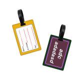 Impressão personalizada de forma redonda com etiqueta de bagagem de plástico