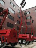 Australia Alquiler de minería de 10m de dos ejes Portable torres de luz de emergencia