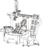 호이스트 플러스 쟁반에 있는 미사일구조물 로더 플러스 기우는 침대를 가진 정밀도 CNC 선반