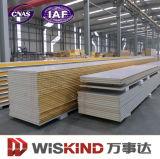 Paneles sándwich de poliuretano Material de construcción para el taller de la estructura de acero