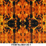 Película hidráulica Ma133-3 de la impresión del fuego de la llama del modelo PVA de la película hermosa de la impresión