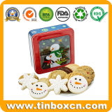Stagno quadrato della finestra di natale per il contenitore impaccante di regalo del biscotto del biscotto