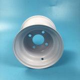 '' оправа колеса тележки гольфа отверстия 72mm белого цвета 8X7 центральная стальная