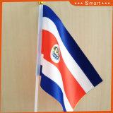 Polyster promotionnel de haute qualité en agitant la main d'un drapeau
