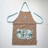 製造業者OEMはデザインによって印刷された昇進の綿の胸当ての台所エプロンをカスタマイズした