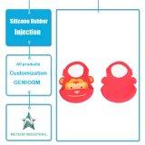 一定の防水洗濯できる赤ん坊の胸当て型を入れるカスタマイズされたシリコーンゴムの製品