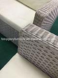 Aluminio Venta caliente sofá mimbre mimbre muebles de exterior