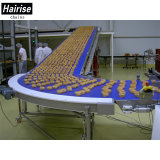 Indústria alimentar Correia transportadora modular curvos