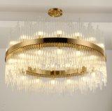 로비를 위한 호텔 프로젝트 LED 펀던트 점화 수정같은 샹들리에