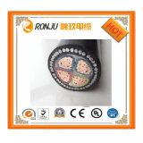 Zr Yjlv22-10кв 3*400 алюминиевых проводников Негорючий Steel-Tape XLPE изоляцией бронированные ПВХ оболочку кабеля питания