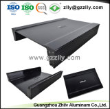 ISO 9001 Alumínio extrudido esculpida personalizadas para o dissipador de calor com Car Audio