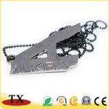 Projetar o Tag de cão irregular do metal da colar do pendente