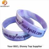 Il braccialetto ecologico del silicone imprime e colora riempito (XY-MXL72903)