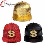 Golden 6 Instrumentos Snapback Hat com patch de Metal Personalizado $