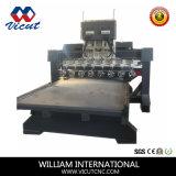 Graveur sur bois rotatif CNC routeur de la machine pour la gravure sur bois VCT-TM2515fr-8h
