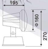 Buon indicatore luminoso del giardino di prezzi LED in IP65 FC001