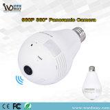 Seguridad del Wdm 360 cámara casera elegante del IP de la bombilla de WiFi de la resolución panorámica de la cámara 1.3MP del grado