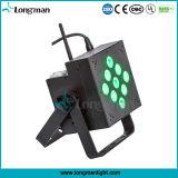 디스코 단계 점화 9*10W 배터리 전원을 사용하는 무선 LED 편평한 동위