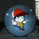 La publicité du vide avant de mémoire formant le cadre léger rond acrylique