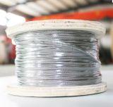 Cuerda de alambre revestida de acero inoxidable del PVC del cable del nilón plástico