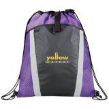 Trouxa relativa à promoção personalizada do saco de Drawstring do poliéster 210d