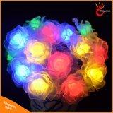 50 lumières extérieures actionnées solaires décoratives de chaîne de caractères de fleur de DEL Rose