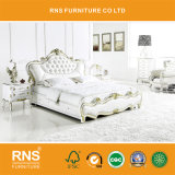 A901 классический Домашняя мебель двуспальная кровать из натуральной кожи