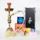 Portacenere elettronico di vetro del vaporizzatore del narghilé di Shisha del vaporizzatore della sigaretta della sigaretta del tubo di acqua del narghilé della bottiglia di vetro della E-Sigaretta stabilita materiale in lega di zinco di Shisha
