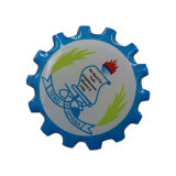 Migliore distintivo duro quadrato di vetro Rated di Pin di metallo dello smalto di alta qualità