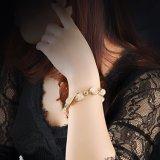De hete Armband van de Manier van het Kristal van het Netwerk van Doubai van de Verkoop Gouden voor Vrouw