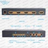 4 scambista Port di 4X1 HDMI con la funzione del seme (supporto 4K 3D) tramite telecomando di IR