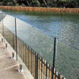 Балюстрада/Railing Tempered стекла Spigots Frameless для плавательного бассеина балкона