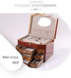 PU Brown крася деревянную коробку ювелирных изделий с ящиком