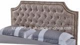 고전적인 침실 비치하는 고정되는 호화스러운 특대 가죽 침대