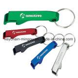 Catena chiave di alluminio in bianco a buon mercato personalizzata apri di bottiglia del ricordo del regalo
