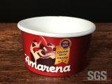 Coupe de crème glacée client imprimé avec couvercle de gros de tasse de yogourt glacé