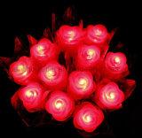 Venta caliente OEM LED multicolor de Flores Artificiales de plástico