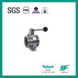 Válvula de borboleta sanitária Sfx054 da linha do aço inoxidável