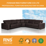 Sofá de couro 8058 do canto do sofá de Italy da esponja high-density