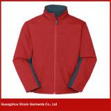 Revestimentos de vestuário alinhados de Softshell dos homens velo ao ar livre feito sob encomenda (J70)