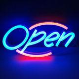Signe au néon ouvert fait sur commande de panneau de lettre du fournisseur DEL d'usine
