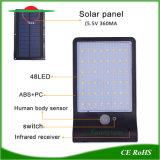 48LED lumière solaire jardin de la rue de triage Voyant DEL de l'éclairage du capteur