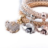 형식 지르콘 다이아몬드 다중층 팔찌 인공적인 보석