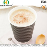 Kleiner 100ml 4oz Kräuselung-Kaffee-Papiercup für Probieren (4oz)