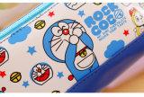 1個のPCSのかわいい猫PUの革筆箱の鉛筆袋の袋の財布の文房具のEscolarの学校供給学生のギフトは出荷を解放する