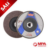 La trampilla de pulido recubierto de disco con material calcinado