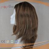 Parrucca superiore di seta delle donne dei capelli brasiliani (PPG-l-0739)