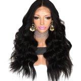 Объемной волны черноты части Dlme парик волос средней синтетический