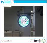 Populäre Firmenzeichen-Zeichen-Bildschirmanzeige runde LED-Bildschirmanzeige mit graviertem Firmenzeichen (P8mm)