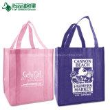 Logotipo personalizado promocional impresso não tecidos sacos de efectuar compras de supermercado